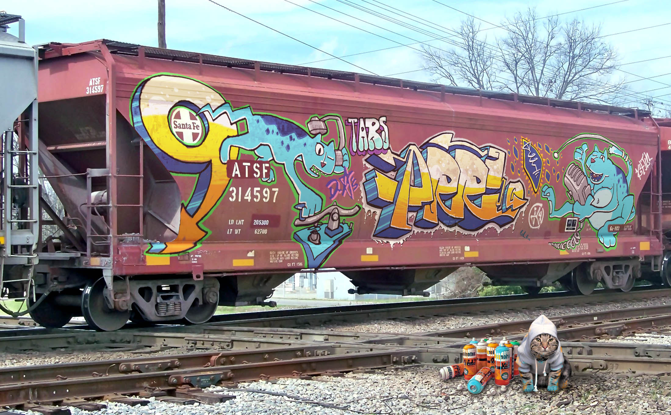 grain_car_ham_radio_cat_graffiti